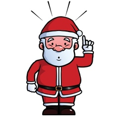 Santa Claus having an idea vector image
