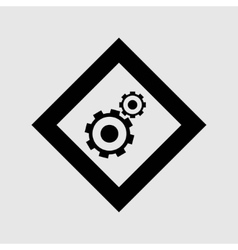 Cogwheel and development icon vector