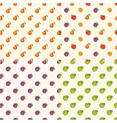Fruit patterns vector