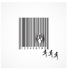 Businessman sign with dilapidation barcode vector