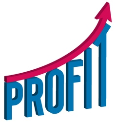 Increase profit business concept vector