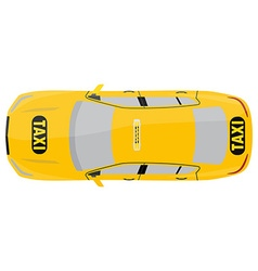 Taxi top view vector