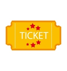 Ticket stub isolated icon design vector