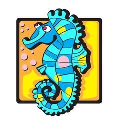 seahorse clip art vector image