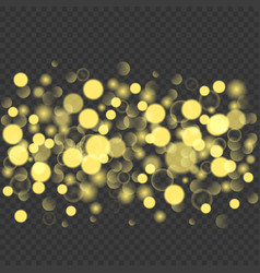 Abstract golden glitters background vector