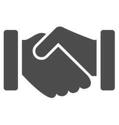 Agreement handshake icon vector
