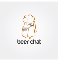 beer chat concept design template vector image vector image