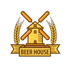 beer icon for beerhouse brewery bar pub or product vector image