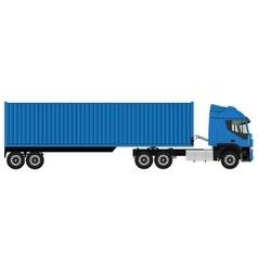 Blue cargo truck vector