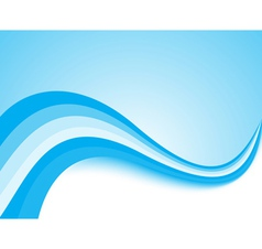 Blue light wave background vector image vector image