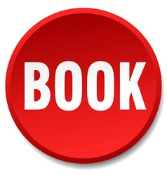 book red round flat isolated push button vector image vector image