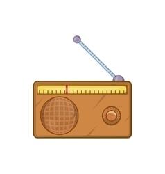 Brown retro style radio receiver icon vector image vector image