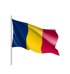chad realistic flag vector image vector image