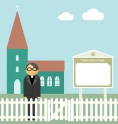 Church notice board vector