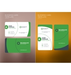 Corporate Business Card Print Template Vertical vector image