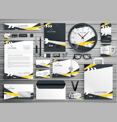 Corporate identity stationery template design set vector