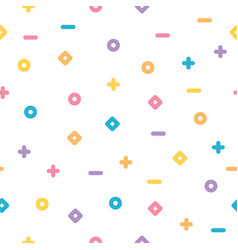 cute seamless pastel pattern white background vector image