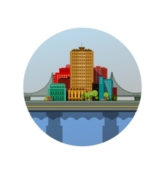 emblem of the city vector image
