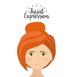 expression facial vector image vector image