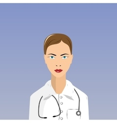 Female doctor in lab coat vector
