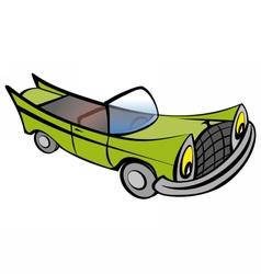 Funny old car cartoon vector image