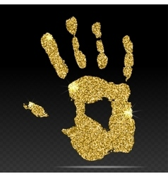 Gold print of human hand vector