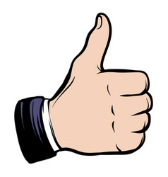 Hand doing a thumb up icon cartoon vector