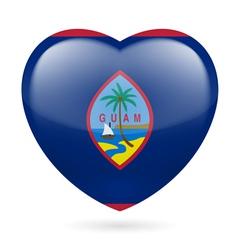 Heart icon of guam vector