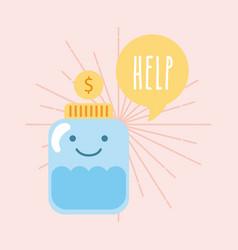 Help donations children vector
