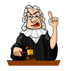 Judge with gavel vector
