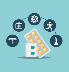 Medicine pill capsule care medicine icons vector