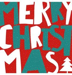 Merry Christmas Greeting Card Christmas tree and vector image vector image