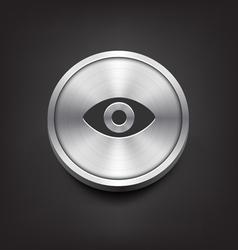 Metal Eye Icon vector image vector image