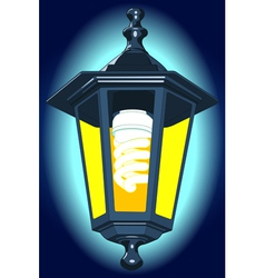Night lantern vector image vector image