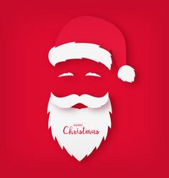 origami of santa claus christmas card vector image