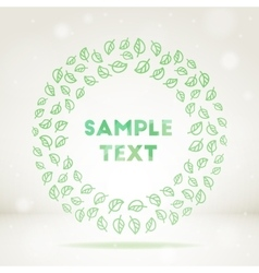 Ornamental leaf frame vector
