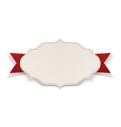 Paper Tag with red Ribbon vector image vector image