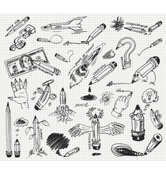 Pencil drawing version of raster image vector image vector image