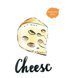 Perfect pieces of swiss cheese vector