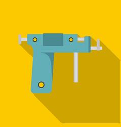 Piercing gun icon flat style vector
