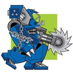 Razor machine robot vector