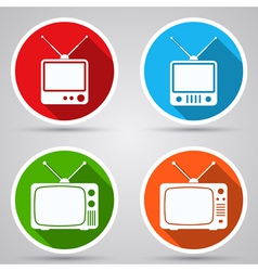 Retro TV sets collection vector image vector image