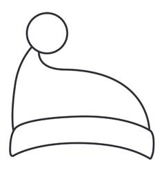 Santas hat of christmas season design vector