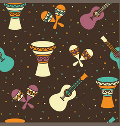 seamless pattern - ethnic music vector image