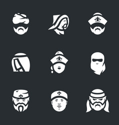 Set of nomads icons vector