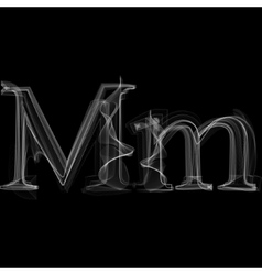 Smoke font letter m vector