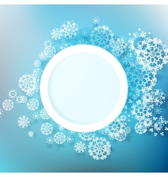 Snowflakes and space for text plus EPS10 vector image vector image