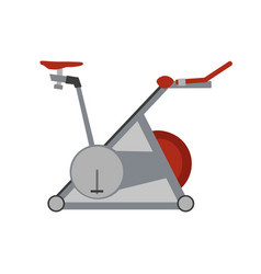 sport gym fitness simulator icon exercise healthy vector image