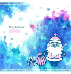 Watercolor christmas santa can be used as a vector
