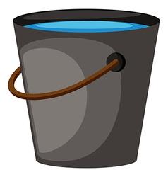 Bucket full of water vector image